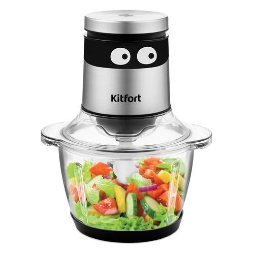 Измельчитель электрический Kitfort КТ-3049 400Вт серебристый/черный