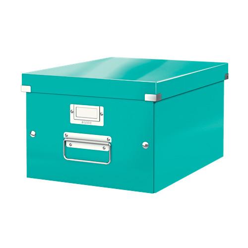Короб для хранения Leitz Click & Store, картон, бирюзовый [60440051]