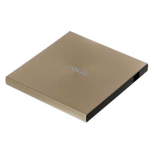 Оптический привод DVD-RW ASUS SDRW-08U8M-U, внешний, USB Type-C, золотистый, Ret [sdrw-08u8m-u/gold/g/as]