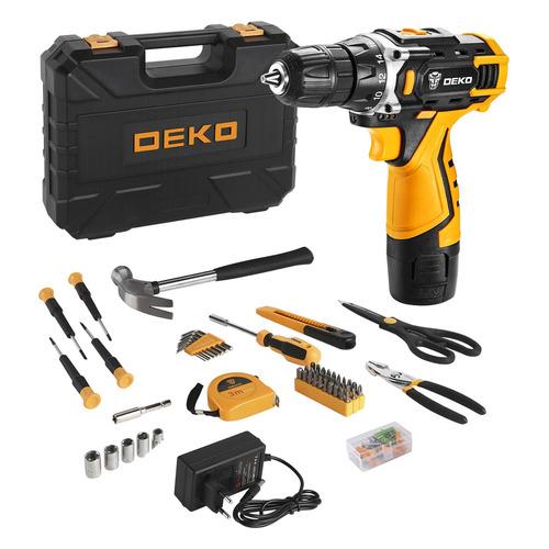 Фото - Дрель-шуруповерт DEKO DKCD12FU-Li 2Ач, с одним аккумулятором [063-4112] электроинструмент deko dkcd12fu li 063 4100