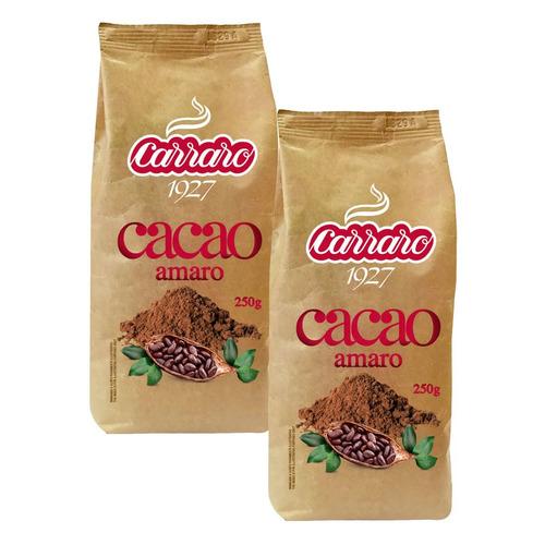 Какао-напиток Carraro Cacao Amaro 2x250гр 250гр м/уп (5098)