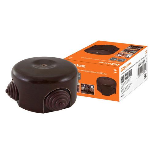 Коробка Tdm Electric Фарфоровая (SQ2802-0013) распаяч. 4x коричневый (упак.:1шт)