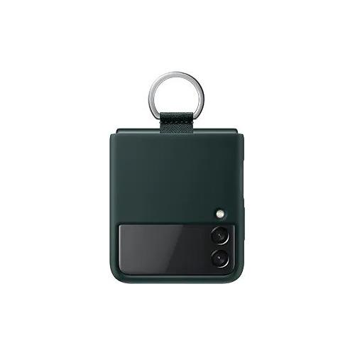Чехол (клип-кейс) SAMSUNG Silicone Cover with Ring, для Samsung Galaxy Z Flip3, зеленый [ef-pf711tgegru]