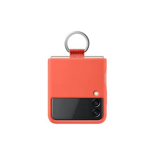 Чехол (клип-кейс) SAMSUNG Silicone Cover with Ring, для Samsung Galaxy Z Flip3, розовый [ef-pf711tpegru]
