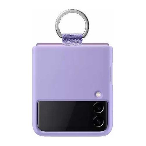 Чехол (клип-кейс) SAMSUNG Silicone Cover with Ring, для Samsung Galaxy Z Flip3, фиолетовый [ef-pf711tvegru]