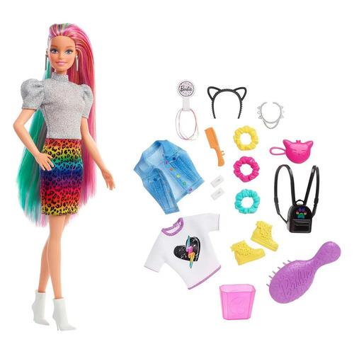 Кукла BARBIE с разноцветными волосами [grn81]