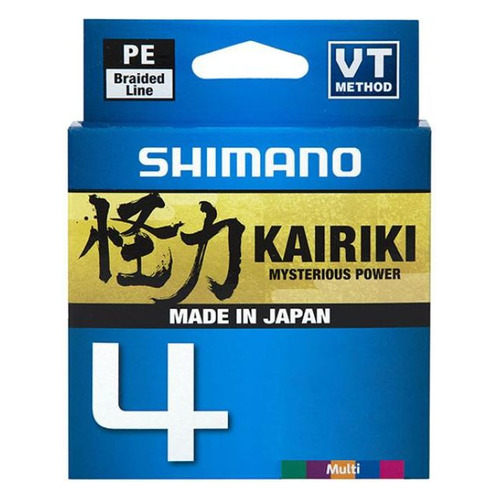 Леска SHIMANO Kairiki 4 PE, плетеная, 0.13мм, 150м, 7.4кг, мультиколор [ldm54te1013015m]