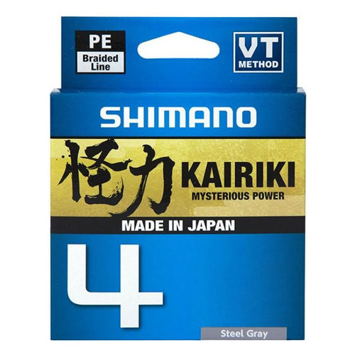 Леска SHIMANO Kairiki 4 PE, плетеная, 0.2мм, 150м, 13.8кг, серый [ldm54te2020015s]