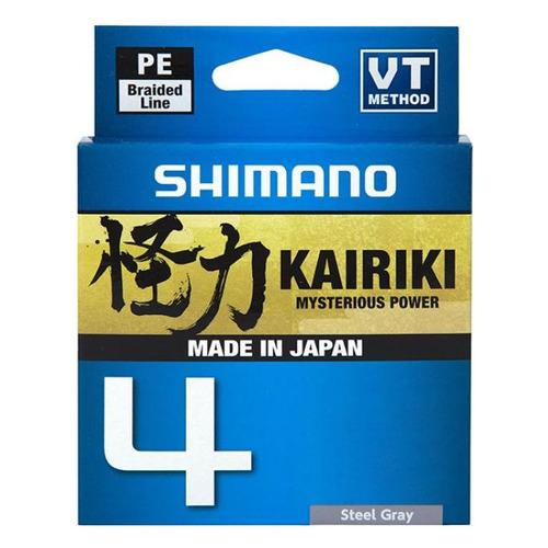 Леска SHIMANO Kairiki 4 PE, плетеная, 0.215мм, 150м, 16.7кг, серый [ldm54te2521515s]