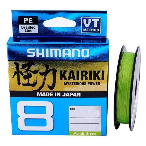 Леска SHIMANO Kairiki 8 PE, плетеная, 0.19мм, 150м, 12кг, зеленый [59wpla58r04]