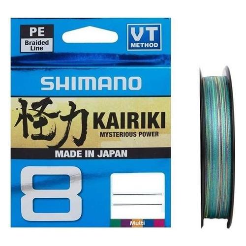 Леска SHIMANO Kairiki 8 PE, плетеная, 0.19мм, 150м, 12кг, мультиколор [59wpla58r24]
