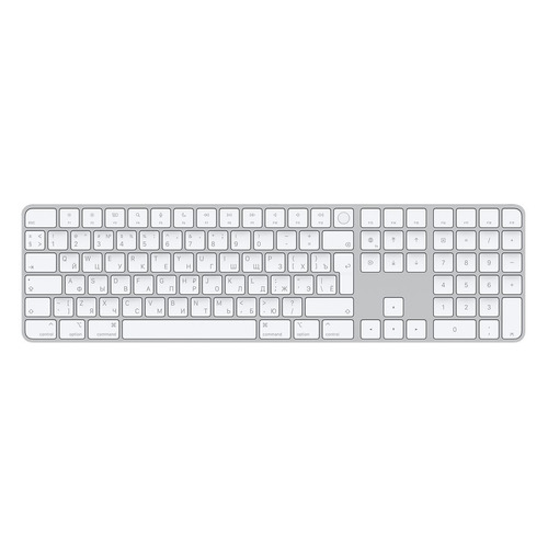 Клавиатура Apple Magic Keyboard with Touch ID and Numeric Keypad серый [mk2c3rs/a]