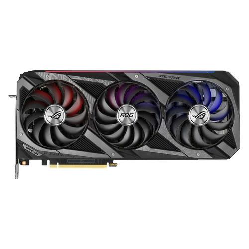 Видеокарта ASUS NVIDIA GeForce RTX 3080, ROG-STRIX-RTX3080-O10G-V2-GAMING LHR, 10ГБ, GDDR6X, OC, LHR, Ret