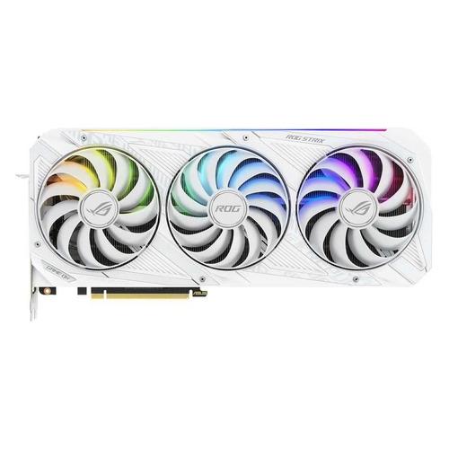 Видеокарта ASUS NVIDIA GeForce RTX 3080, ROG-STRIX-RTX3080-O10G-WHITE-V2 LHR, 10ГБ, GDDR6X, OC, LHR, Ret