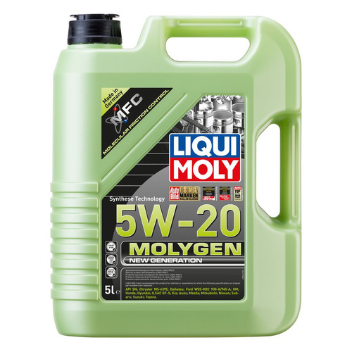 Фото - Моторное масло LIQUI MOLY Molygen New Generation 5W-20 5л. синтетическое [8540] моторное масло liqui moly molygen new generation 10w 40 4 л