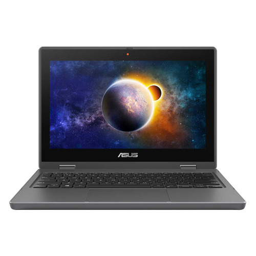 "Ноутбук-трансформер ASUS Pro BR1100FKA-BP0472T, 11.6"", Intel Pentium Silver N6000 1.1ГГц, 8ГБ, 128ГБ SSD, 128ГБ eMMC, Intel UHD Graphics , Windows 10 Home, 90NX03A1-M05900, темно-серый"