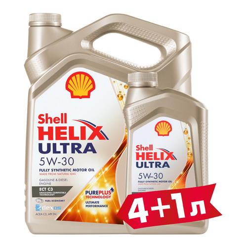 Моторное масло SHELL Helix Ultra ECT C3 5W-30 5л. синтетическое [550046363-41]