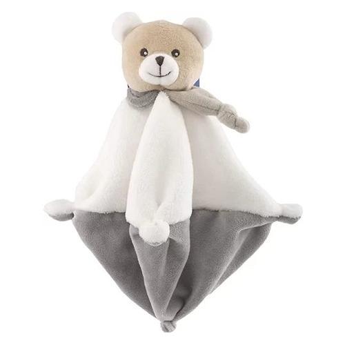 Мягкая игрушка Chicco Медвежонок Doudou с одеяльцем (00009615000000) серый/бежевый 22см (0+)