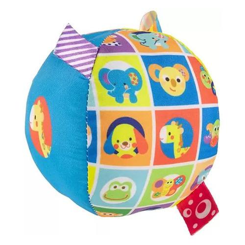 Мягкая игрушка Chicco Мягкий мячик (00010057000000) голубой/оранжевый 9.5см (3м+)