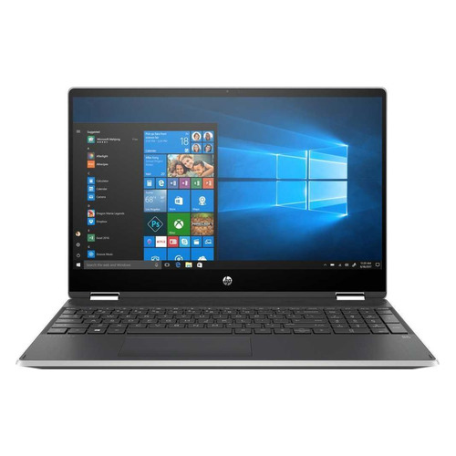 "Ноутбук-трансформер HP Pavilion x360 15-dq1000ur, 15.6"", IPS, Intel Core i3 10110U 2.1ГГц, 4ГБ, 256ГБ SSD, Intel UHD Graphics , Windows 10, 9PU45EA, серебристый"