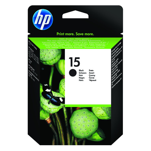 цена на Картридж HP 15, черный [c6615de]