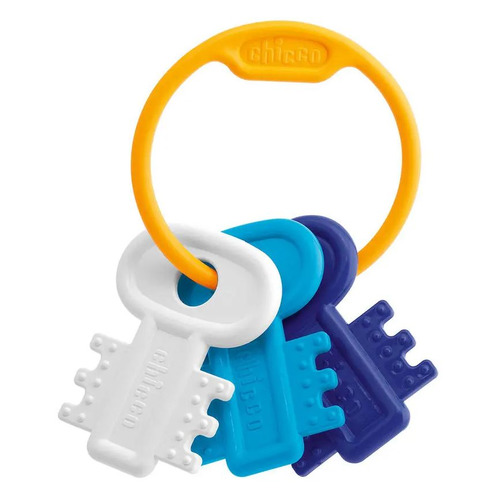 Прорезыватель для зубов Chicco Ключи на кольце пластик синий (от 3 мес)