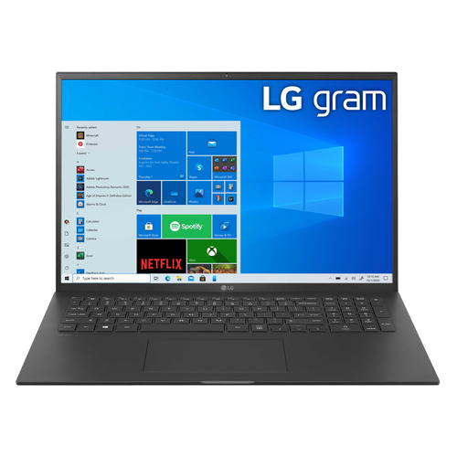 Ультрабук LG Gram 17, 17, IPS, Intel Core i7 1165G7, Intel Evo 2.8ГГц, 16ГБ, 1ТБ SSD, Intel Iris Xe graphics , Windows 10, 17Z90P-G.AH79R, черный ультрабук acer swift 3x sf314 510g 7734 14 ips intel core i7 1165g7 2 8ггц 16гб 1тб ssd intel iris xe max 4096 мб windows 10 nx a0yer 007 синий