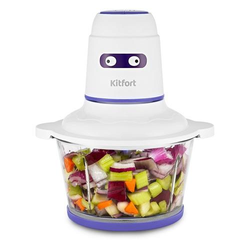 Измельчитель электрический Kitfort КТ-3050-1 1.5л. 400Вт белый/фиолетовый