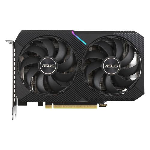 Видеокарта ASUS NVIDIA GeForce RTX 3060Ti, DUAL-RTX3060TI-8G-MINI-V2, 8ГБ, GDDR6, LHR, Ret