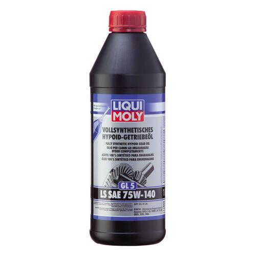 Масло трансмиссионное синтетическое LIQUI MOLY Vollsynthetisches Hypoid-Getriebeoil LS, 75W-140, 1л [8038]
