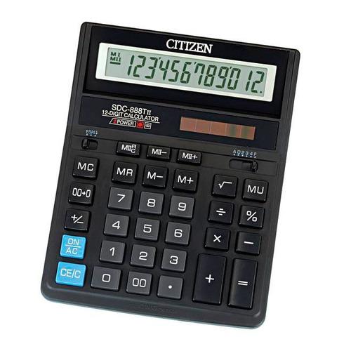 цена на Калькулятор CITIZEN SDC 888TII, 12-разрядный, черный