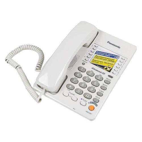 Проводной телефон PANASONIC KX-TS2363RUW, белый цена