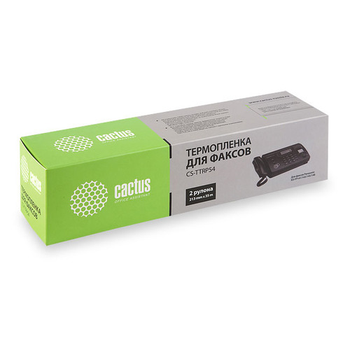 Термопленки для факсов CACTUS CS-TTRP54, 2 шт panasonic термолента для факсов kx fa52a совместимая