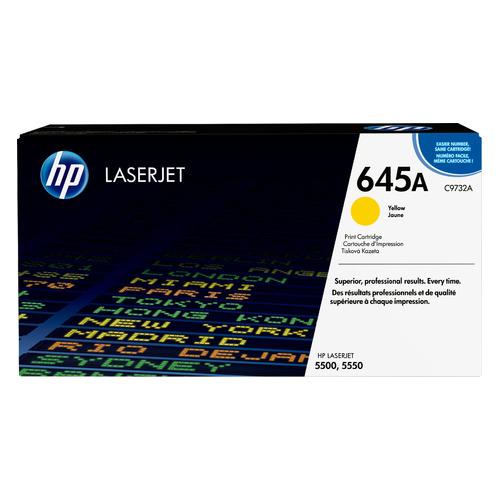 Картридж HP 645A, желтый [c9732a] картридж hp c9732a 645a для принтеров color laserjet 5500 5550