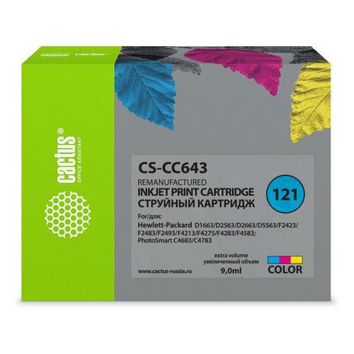 Картридж CACTUS CS-CC643, №121, многоцветный CS-CC643 по цене 1 500