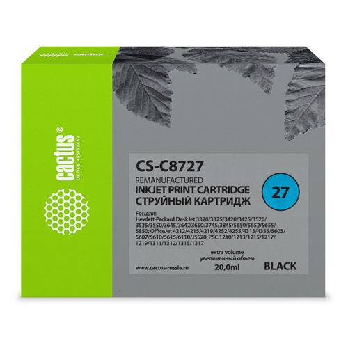 Картридж CACTUS CS-C8727, №27, черный цена 2017
