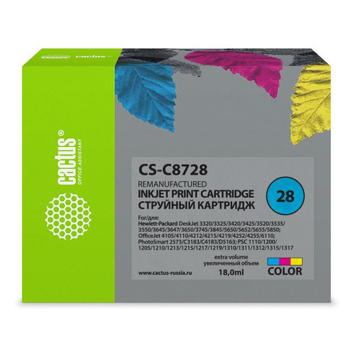 Картридж CACTUS CS-C8728 многоцветный cactus cs rk c8728 color заправка для hp deskjet 3320 3325 3420 3425 3520 officejet 4105