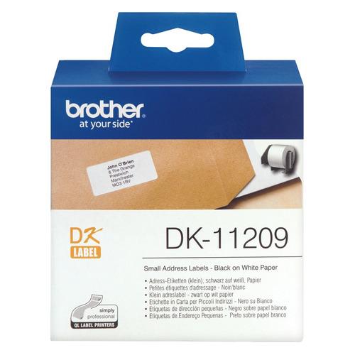 Картридж BROTHER DK11209, черный шрифт, белый ea7 272465 6p103 02836