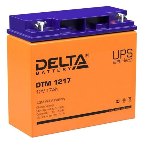 Аккумуляторная батарея для ИБП Delta DTM 1217 12В, 17Ач