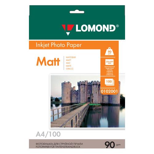 Фото - Фотобумага Lomond 0102001 A4/90г/м2/100л./белый матовое для струйной печати калька hp c3868a 90г м2 белый для струйной печати