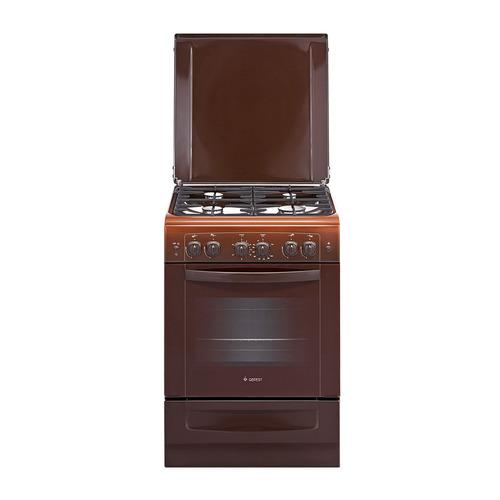 Газовая плита GEFEST ПГ 6100-02 0001, газовая духовка, коричневый