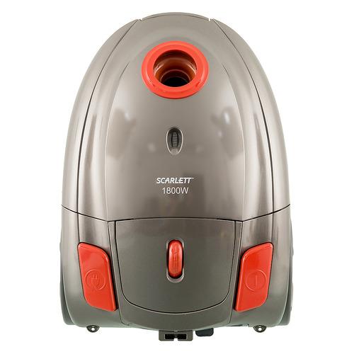 Пылесос SCARLETT SC-VC80B01, 1800Вт, оранжевый/серый пылесос scarlett sc vc80b62 1800вт красный