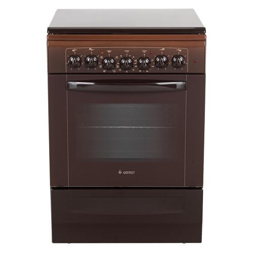 Электрическая плита GEFEST ЭП Н Д 6140-02 0001, эмаль, коричневый все цены