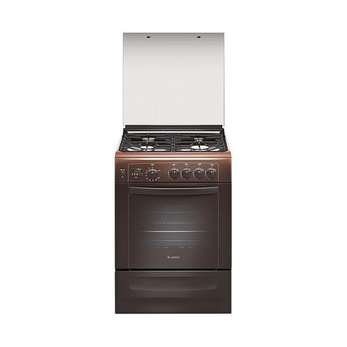 Газовая плита GEFEST 6100-04 0003, газовая духовка, коричневый [пг 6100-04 0003]