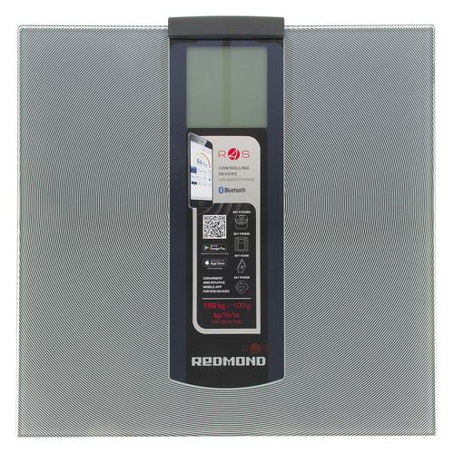 Напольные весы REDMOND RS-740S, до 150кг, цвет: серебристый/черный sinbo весы напольные электронные sinbo sbs 4414 макс 150кг серебристый черный