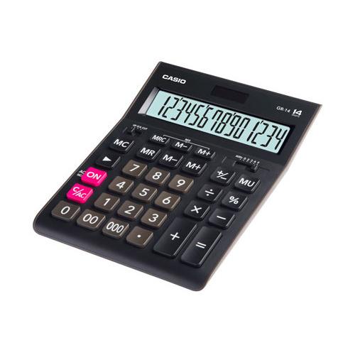 Калькулятор CASIO GR-14, 14-разрядный, черный