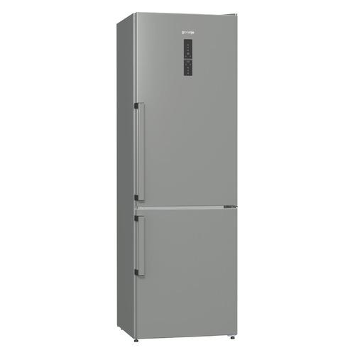 Холодильник GORENJE NRC6192TX, двухкамерный, нержавеющая сталь холодильник gorenje rk621syb4 черный двухкамерный