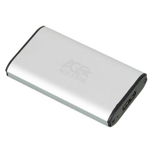 Внешний корпус для SSD AGESTAR 3UBMS1, серебристый  - купить со скидкой