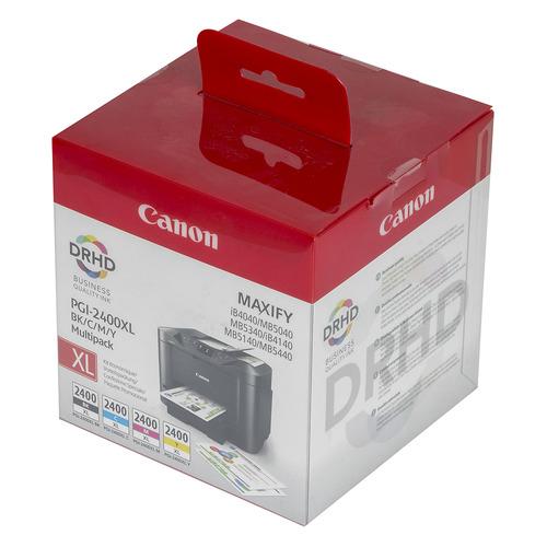 Картридж CANON PGI-2400XL, черный / голубой / пурпурный / желтый [9257b004] цена