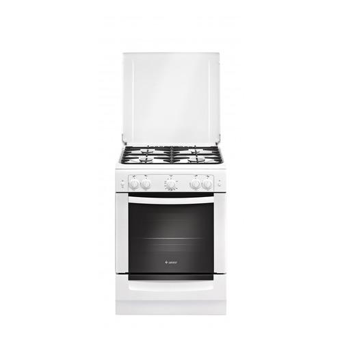 Газовая плита GEFEST 6100-02 0009, газовая духовка, металлическая крышка, белый [пг 6100-02 0009]